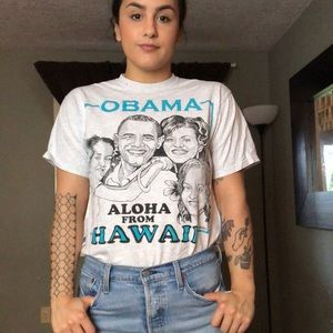 OBAMA Aloha From Hawai'i Graphic Tee - B53